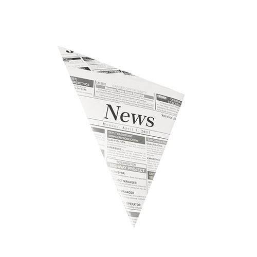 """1000 Spitztüten, Pergament-Ersatz 27 cm x 19 cm x 19 cm """"Newsprint"""" Füllinhalt 125 g, fettdicht"""