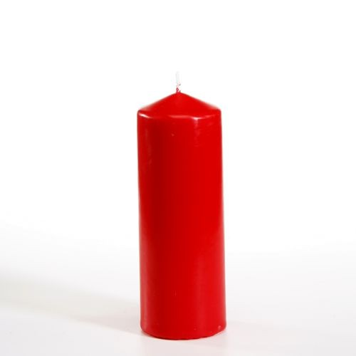 Stumpenkerze Ø 60 mm · 165 mm rot
