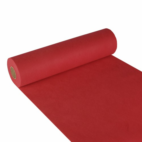 """Tischläufer, stoffähnlich, Vlies """"soft selection"""" 24 m x 40 cm rot"""