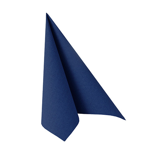 """20 Servietten """"ROYAL Collection"""" 1/4-Falz 25 cm x 25 cm dunkelblau"""