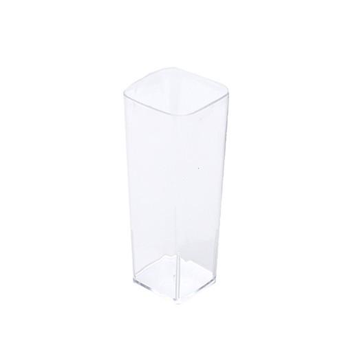 20 Fingerfood - Becher, PS eckig 85 ml 4,2 cm x 3,2 cm x 8 cm glasklar