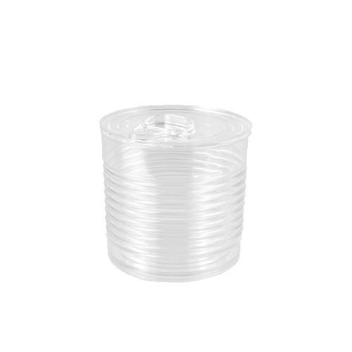 """12 Fingerfood - Becher, PS 220 ml Ø 7,4 cm · 7 cm transparent """"Tin can"""""""