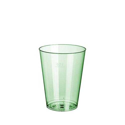 15 Trinkbecher, PS 0,2 l Ø 7,5 cm · 9,7 cm hellgrün