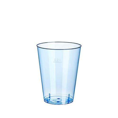 15 Trinkbecher, PS 0,2 l Ø 7,5 cm · 9,7 cm hellblau