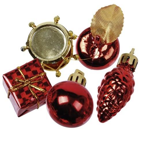"""13 Deko-Accessoires rot """"Christmas Decorations"""" Ø 20-60 mm"""