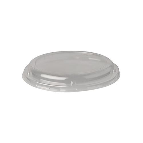 "50 Dom-Deckel, PLA ""pure"" rund Ø 13,9 cm · 2 cm transparent"