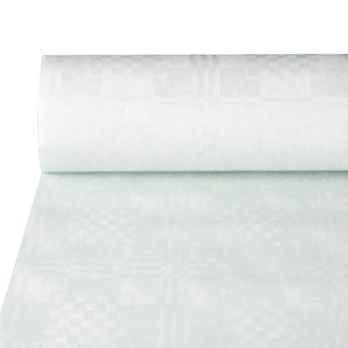 Papiertischtuch mit Damastprägung 50 m x 1,2 m weiss