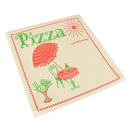 """100 Pizzataschen, Pergamin 30 cm x 30 cm """"Cafeteria"""" fettdicht"""