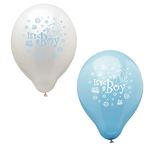 "12 Luftballons Ø 25 cm ""It's a boy"""