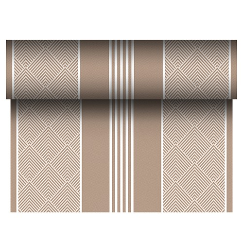 """Tischläufer, stoffähnlich, PV-Tissue Mix """"ROYAL Collection"""" 24 m x 40 cm braun """"Elegance"""""""
