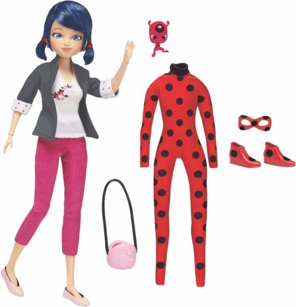 Miraculous Puppe Marinette m. 2 Outfits