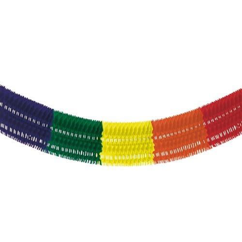 """Großraumgirlande, Papier 10 m """"Rainbow fringe"""" schwer entflammbar"""