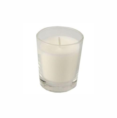 Glas mit Wachsfüllung Ø 56 mm · 67 mm weiss