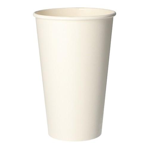 """50 Trinkbecher, Pappe """"pure"""" 0,4 l Ø 9 cm · 13,9 cm weiss"""