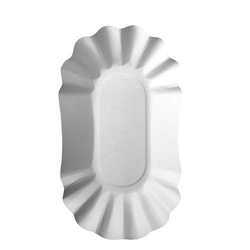 """250 Schalen, Pappe """"pure"""" oval 10,5 cm x 17,5 cm x 3 cm weiss"""