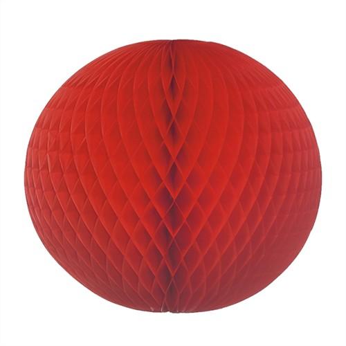 Wabenball Ø 60 cm rot schwer entflammbar