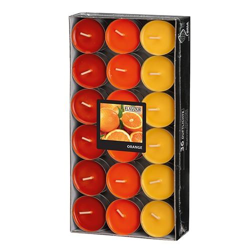 """36 """"Flavour by GALA"""" Duftlichte Ø 38 mm · 17 mm orange - Orange """"Ton in Ton"""""""