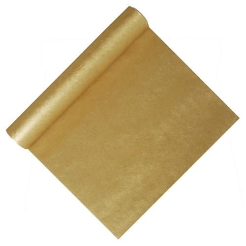 """Tischläufer, stoffähnlich, Vlies """"soft selection"""" 4,8 m x 40 cm gold"""