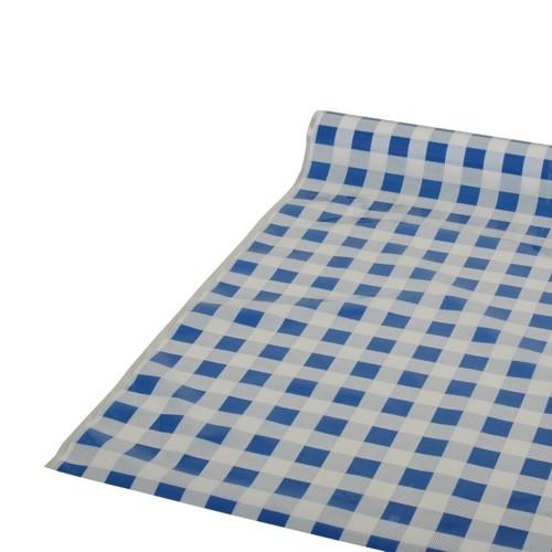 """Tischdecke, Folie 50 m x 80 cm blau """"Karo"""""""
