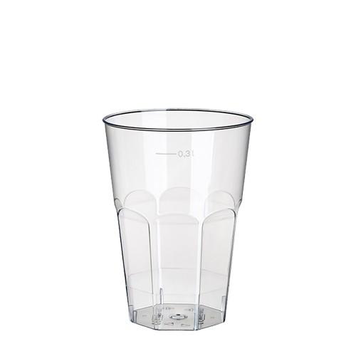 30 Gläser für Latte Macchiato, PS 0,3 l Ø 8 cm · 11 cm glasklar