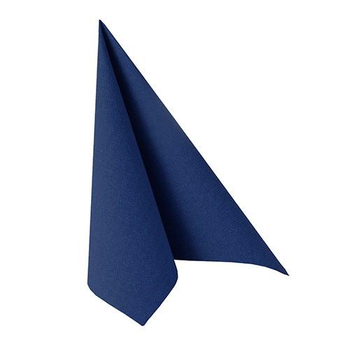 """50 Servietten """"ROYAL Collection"""" 1/4-Falz 33 cm x 33 cm dunkelblau"""