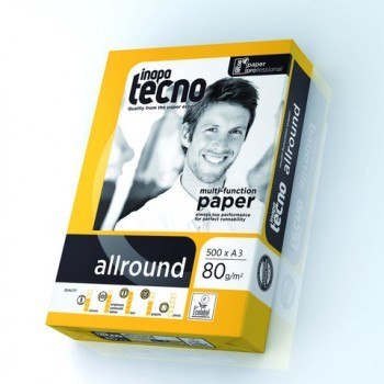 inapa tecno allround DIN A3 80g multifunktionales Büropapier