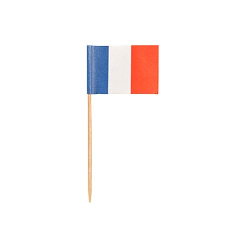 """500 Deko-Picker 8 cm """"Frankreich"""""""