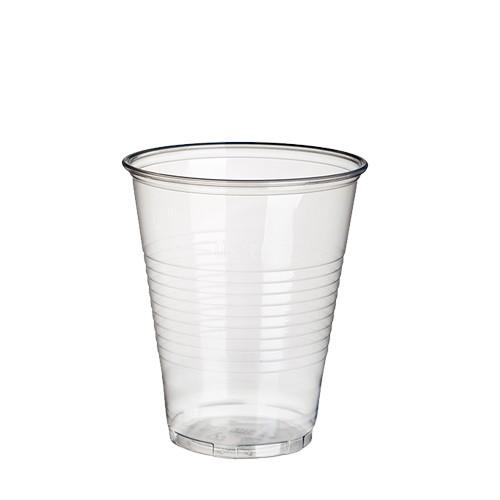 50 Trinkbecher, PP 0,3 l Ø 9,5 cm · 11,1 cm transparent mit Schaumrand