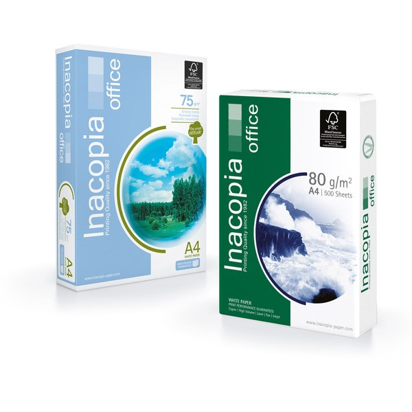 Multifunktions-Papier Inacopia office, A4, 80 g/m², weiß, 500 Blatt