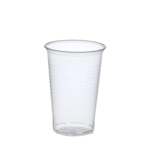 50 Trinkbecher, PP 0,4 l Ø 9,5 cm · 12,2 cm transparent mit Schaumrand