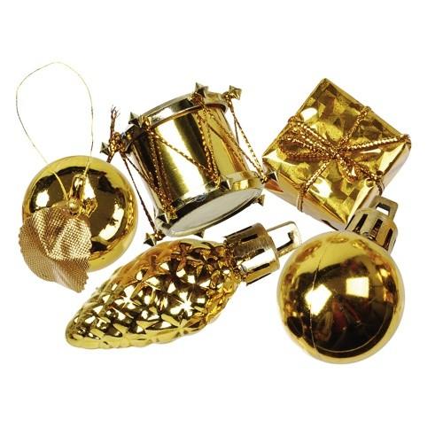 """13 Deko-Accessoires gold """"Christmas Decorations"""" Ø 20-60 mm"""