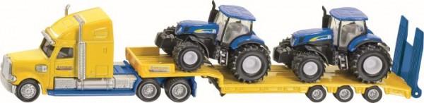 SIKU 1805 LKW mit New Holland Traktoren 1:87