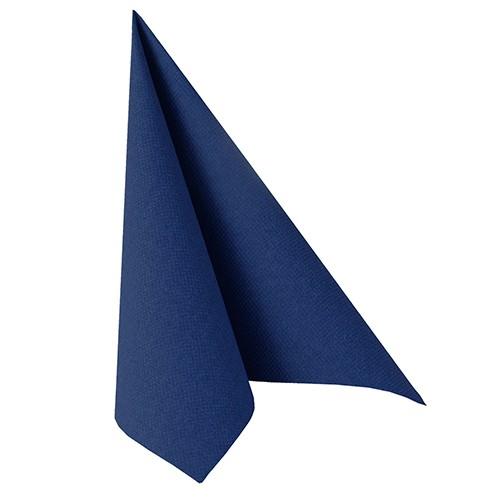 """50 Servietten """"ROYAL Collection"""" 1/4-Falz 40 cm x 40 cm dunkelblau"""