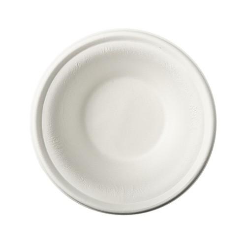 """100 Schalen, Zuckerrohr """"pure"""" 380 ml Ø 15,5 cm · 4,6 cm weiss"""