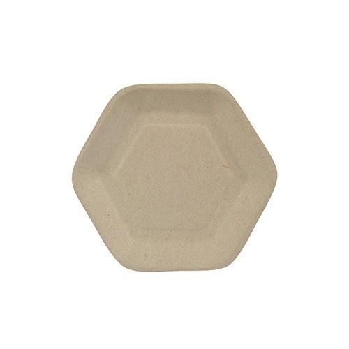 """50 Fingerfood - Teller, Zuckerrohr """"pure"""" 13 cm x 11,2 cm natur """"Hexagon"""""""