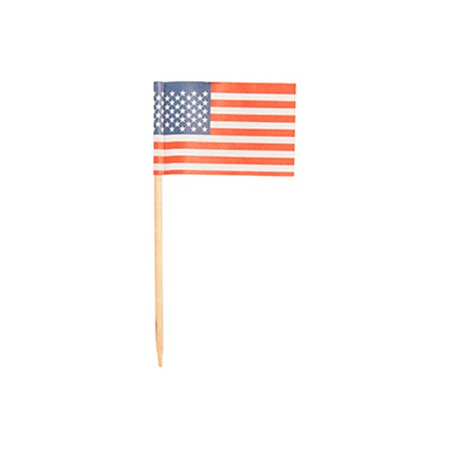 "500 Deko-Picker 8 cm ""Amerika"""