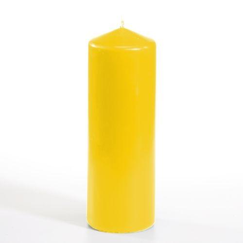 Stumpenkerze Ø 70 mm · 200 mm goldgelb