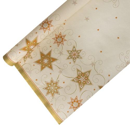 """Tischdecke, Papier 6 m x 1,2 m creme """"Just Stars"""""""