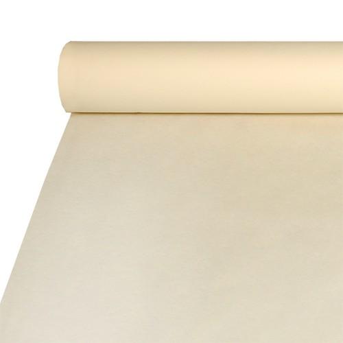 Tischdecke, stoffähnlich, Airlaid 20 m x 1,2 m creme