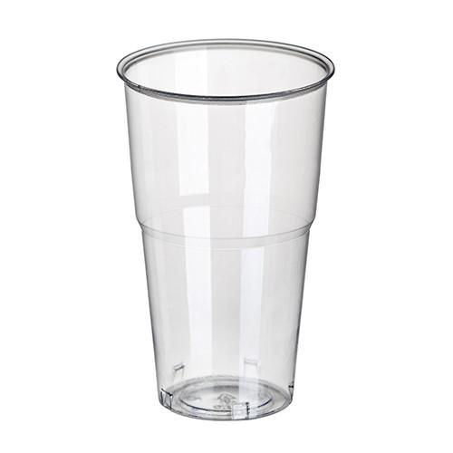 """60 Kaltgetränkebecher, PLA """"pure"""" 0,5 l Ø 9,5 cm · 16,2 cm glasklar mit Schaumrand"""