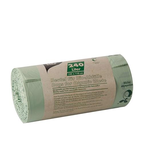 10 Kompostbeutel, Bio-Folie 240 l 145 cm x 110 cm grün