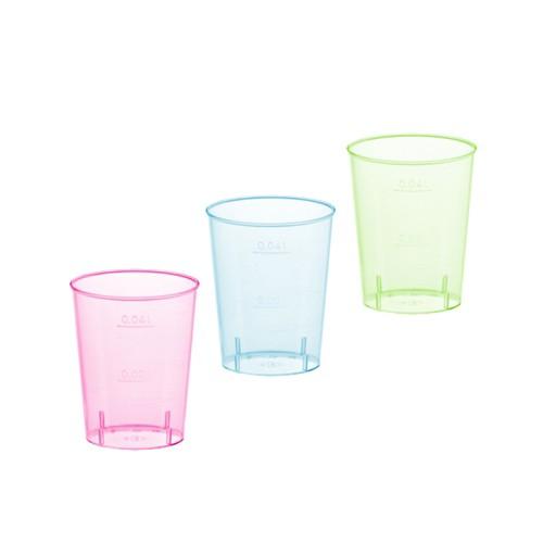 40 Gläser für Schnaps, PS 4 cl Ø 4,2 cm · 5,2 cm farbig sortiert
