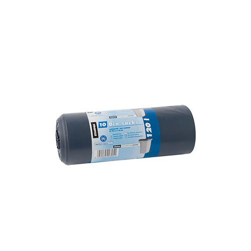 "10 Müllsäcke, LDPE ""blauer Engel"" 120 l 110 cm x 70 cm blau/schwarz"