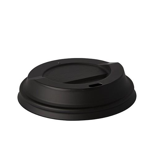 """50 Dom-Deckel, C-PLA """"pure"""" rund Ø 9 cm · 2,1 cm schwarz"""