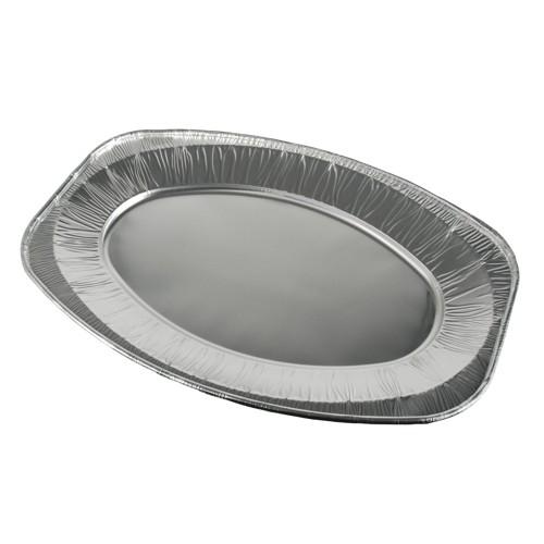 10 Servierplatten, Alu oval 43 cm x 29 cm