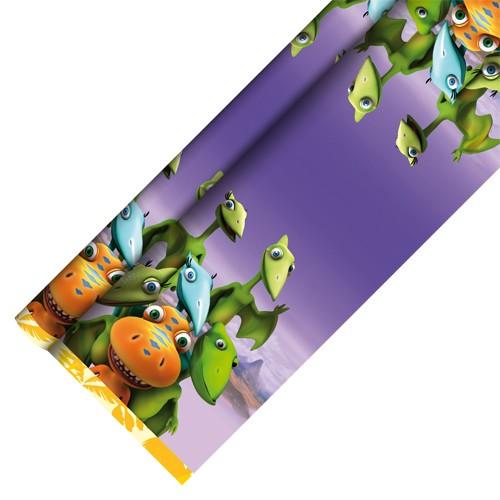 """Tischdecke, Papier 7 m x 1,2 m """"Dinosaur Train"""" lackiert"""