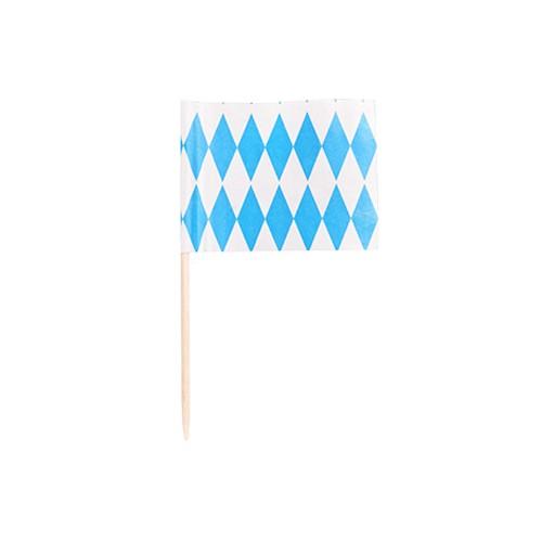"""200 Deko-Picker 8 cm """"Bayrisch Blau"""""""