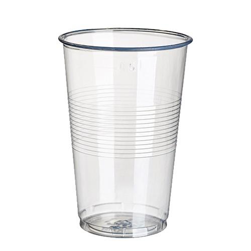 18 Trinkbecher, PP 0,5 l Ø 9,5 cm · 13,7 cm transparent