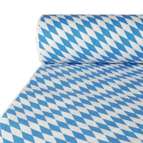"""Papiertischtuch mit Damastprägung 50 m x 1 m """"Bayrisch Blau"""""""