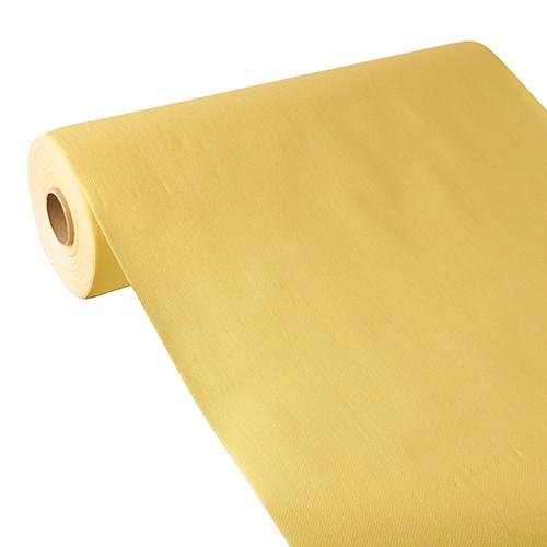 """Tischläufer, stoffähnlich, PV-Tissue Mix """"ROYAL Collection"""" 24 m x 40 cm gelb"""